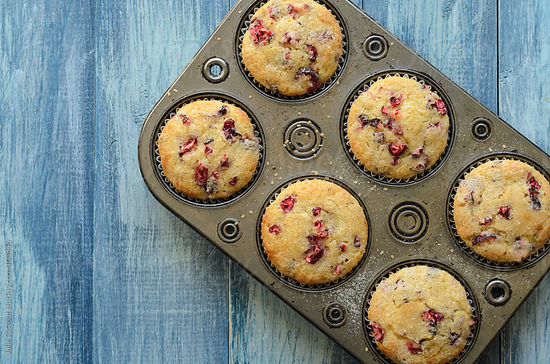 Cranberry Orange Muffins by Julie Rideout for Stocksy United