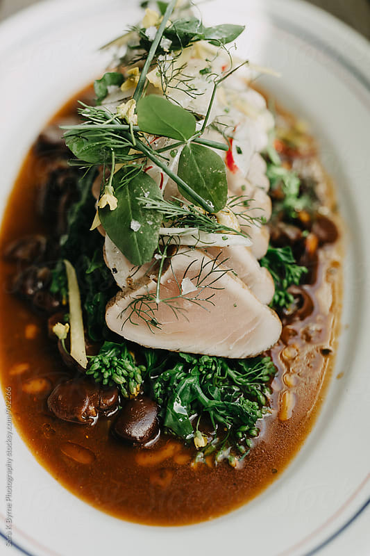 Seared Tuna  by Sara K Byrne Photography for Stocksy United