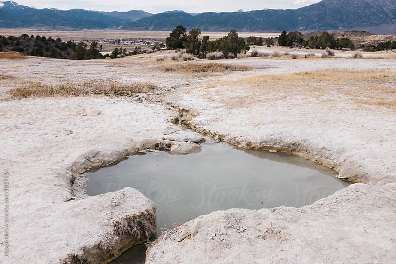 hot springs in northern california landscape by Jesse Morrow for Stocksy United