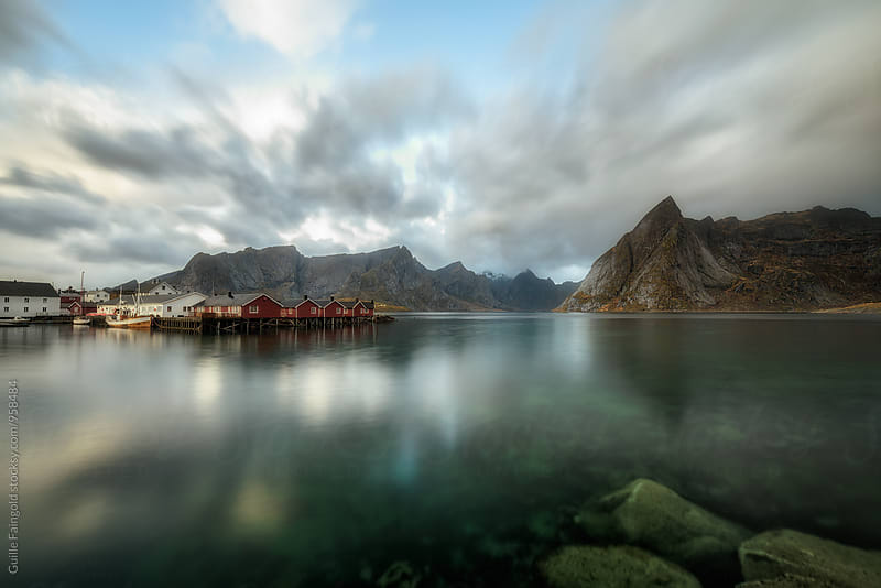 Beautiful scene of waterscape in Norway by Guille Faingold for Stocksy United