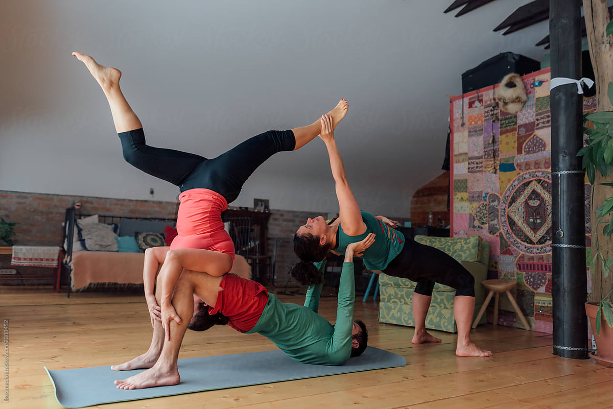 Acro Yoga Poses For 3