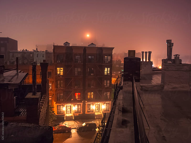 Brooklyn skyline by night by Simone Becchetti for Stocksy United