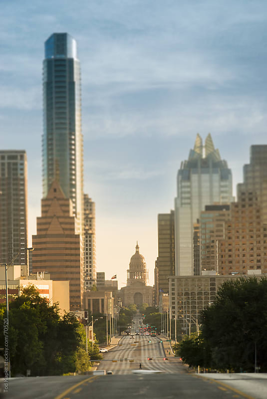 Austin skyline and capital by Tod Kapke for Stocksy United