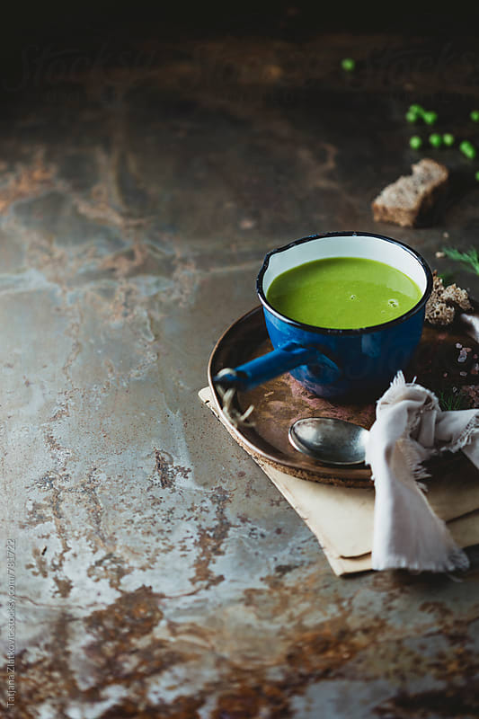 Peas soup by Tatjana Ristanic for Stocksy United