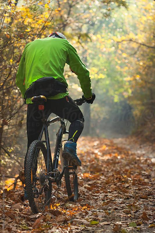 Mountain bike ride by Jelena Jojic Tomic for Stocksy United