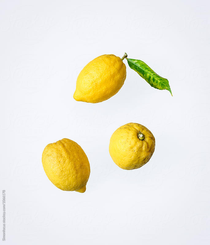 Three organic lemons from Italy by Simonfocus for Stocksy United