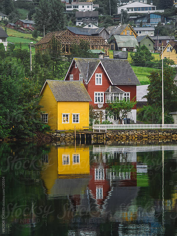 Nordheimsund Village Norway by VICTOR TORRES for Stocksy United