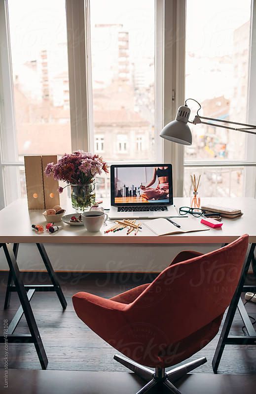 Modern Woman's Office at Home by Lumina for Stocksy United