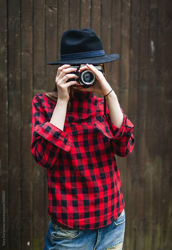 Girl photographer by Yury Goryanoy for Stocksy United