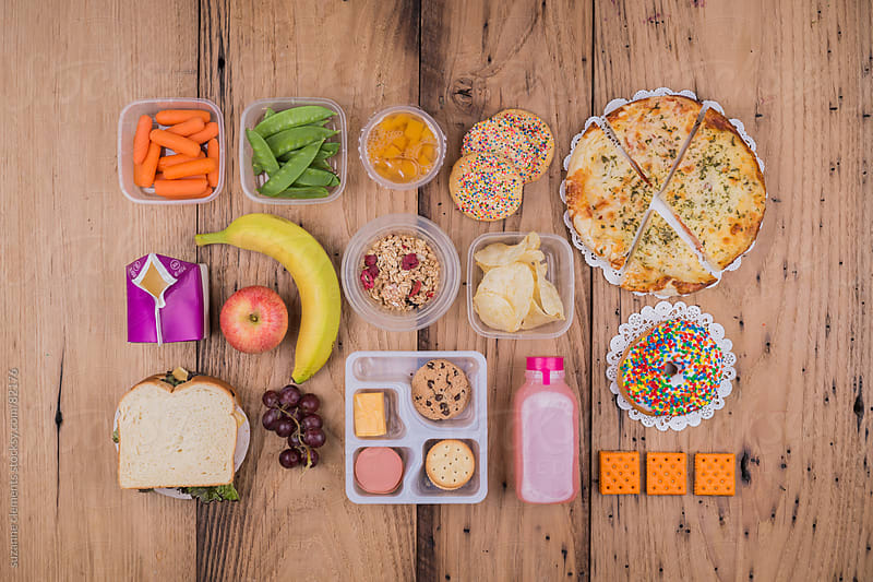 What to Pack for a School Lunch Healthy or Tasty by suzanne clements for Stocksy United