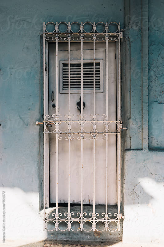 Various doors in the streets of Havana,Cuba by Natasa Kukic for Stocksy United