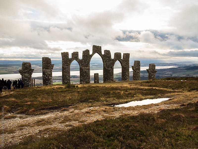 Fyrish Monument in the Scottish Highlands by Ruth Black for Stocksy United
