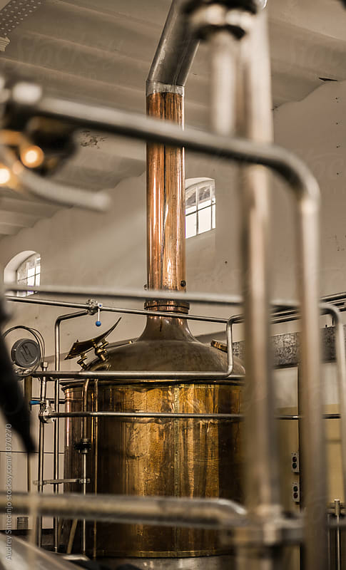 Old brewery complex /distillery with mechanization. by Audrey Shtecinjo for Stocksy United