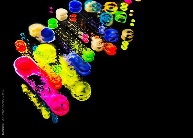 Nail polish drops. by BONNINSTUDIO for Stocksy United
