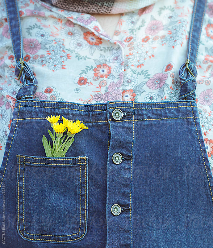 Flowers in the pocket by CACTUS Blai Baules for Stocksy United