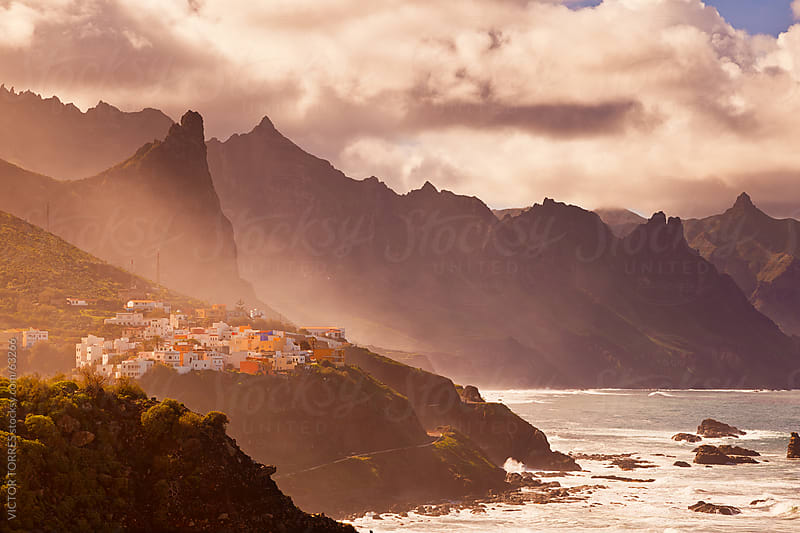 Sunset Mist in Taganana, Tenerife by VICTOR TORRES for Stocksy United
