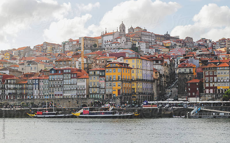 Ribeira and Douro river in Porto, Portugal by Luca Pierro for Stocksy United