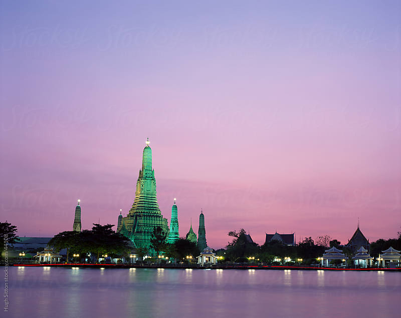 Wat Arun. Bangkok. by Hugh Sitton for Stocksy United