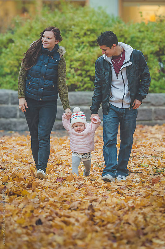 young autumn family by Andreas Gradin for Stocksy United