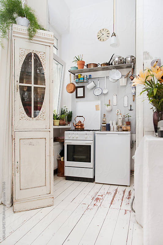 Old-fashioned Kitchen by Julien L. Balmer for Stocksy United