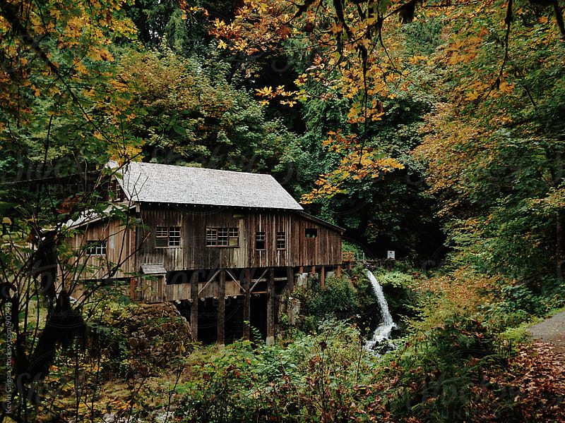 Cedar Creek Grist Mill, WA by Kevin Gilgan for Stocksy United
