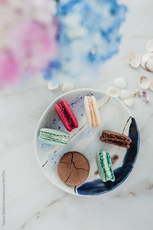 Macarons with summer decoration by Tatjana Ristanic for Stocksy United