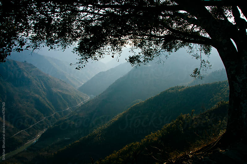 Layers of hills, shot from a top a hill in Nepal. by Shikhar Bhattarai for Stocksy United