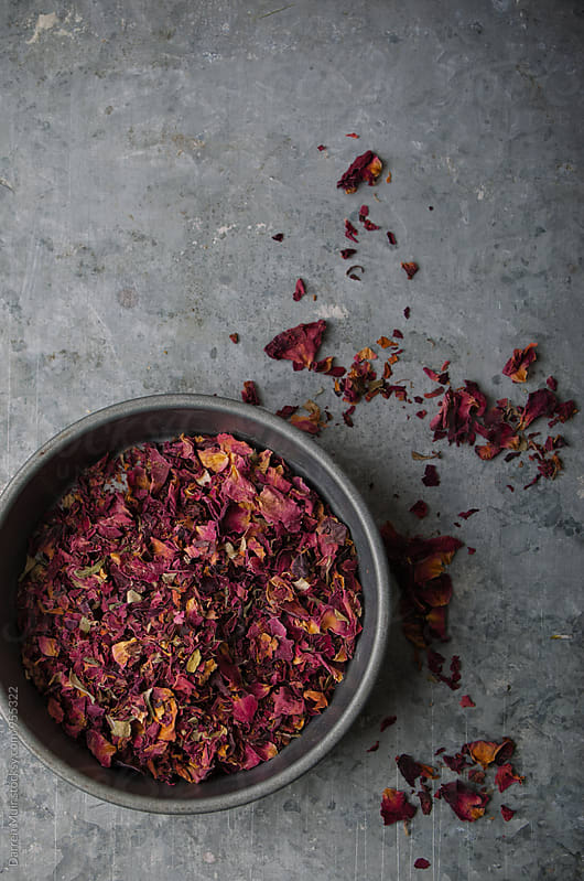 Food grade rose petals. by Darren Muir for Stocksy United