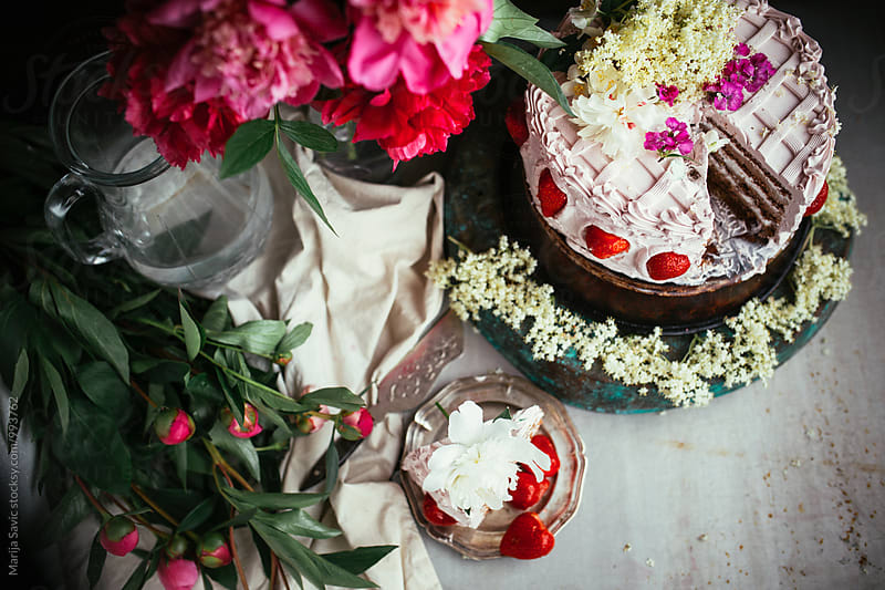Flowery Cake by Marija Savic for Stocksy United