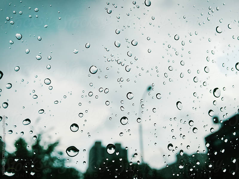 Water Drops on Car Window Background by Julien L. Balmer for Stocksy United