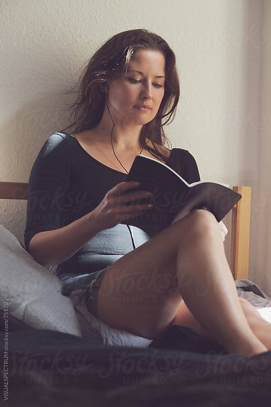 A Pretty Woman Reading by Julien L. Balmer for Stocksy United