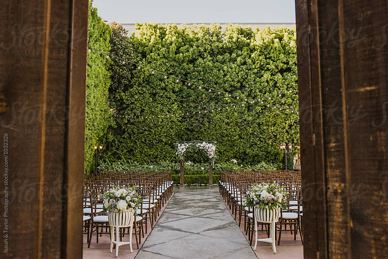 Outdoor Garden Ceremony by Isaiah & Taylor Photography for Stocksy United