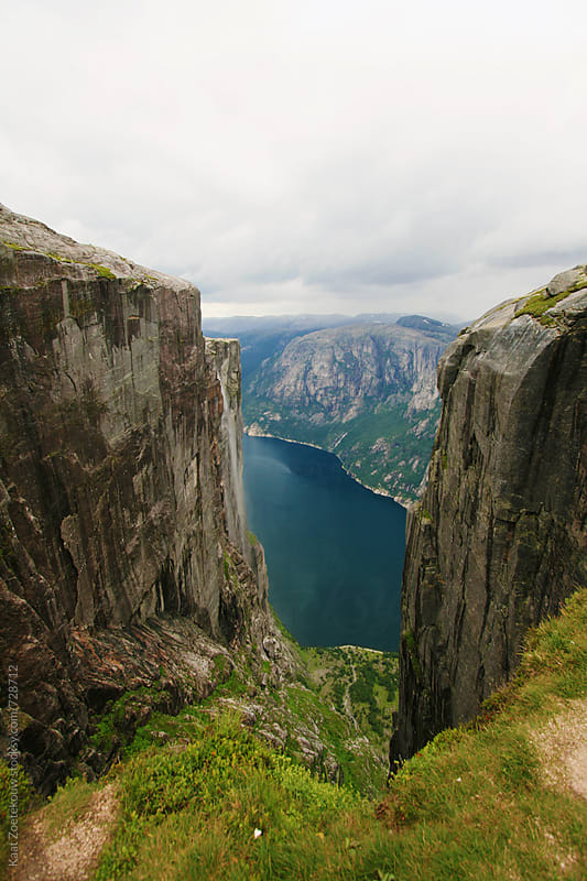Lysefjorden seen from above by Kaat Zoetekouw for Stocksy United