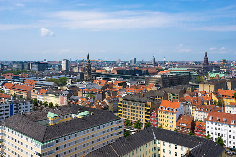 Copenhagen, Denmark - Panorama of the City on a Sunny Summer Day by Tom Uhlenberg for Stocksy United