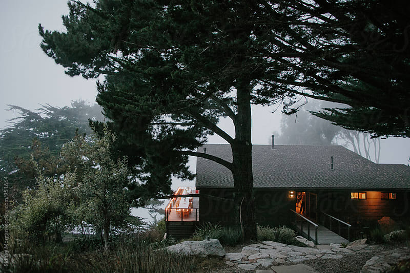 Modern House on a Foggy Cliff by Sidney Morgan for Stocksy United