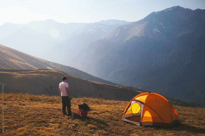 Rocky Mountain Camping by Casey McCallister for Stocksy United