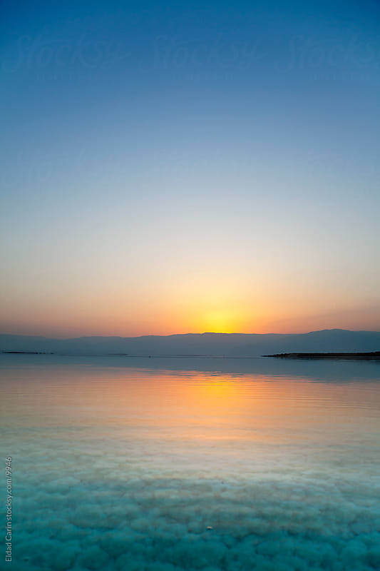 Sunrise In the Dead Sea - Tranquil Dawn by Eldad Carin for Stocksy United