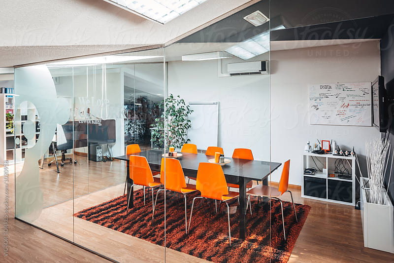 Meeting Room in a Modern Trendy Coworking Office