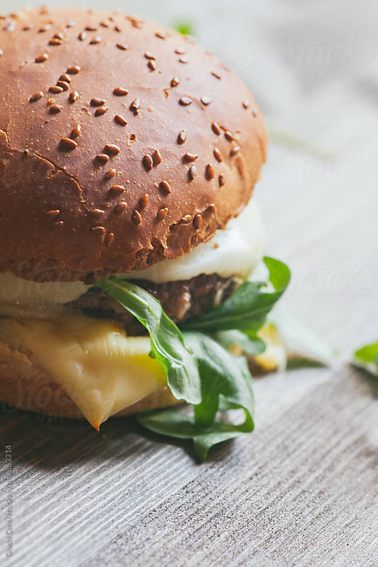 Beef burger by Giada Canu for Stocksy United