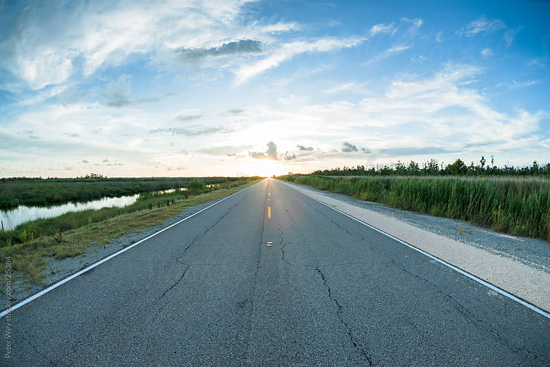 Road towards the sun by Peter Wey for Stocksy United