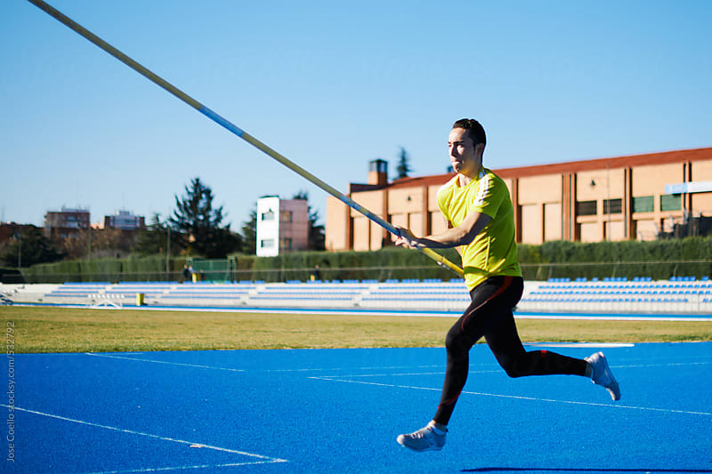 Pole Vaulter by Jose Coello for Stocksy United