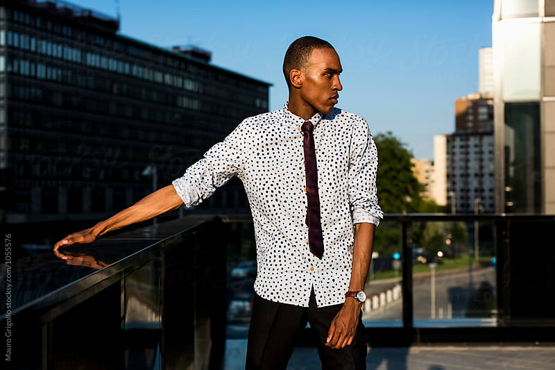 Stylish African American Businessman in the City by Mauro Grigollo for Stocksy United