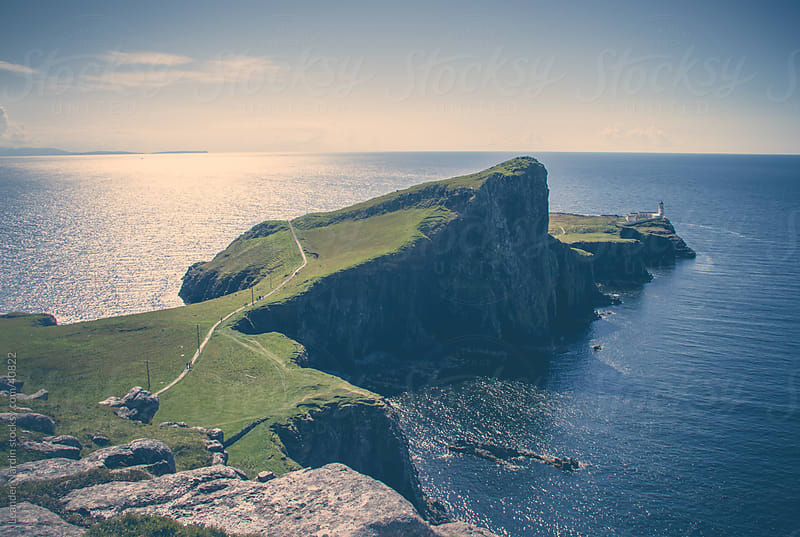 Lighthouse at Neist Point by Leander Nardin for Stocksy United