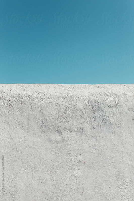 Detail of Minimalistic Wall in Spain by Marija Savic for Stocksy United