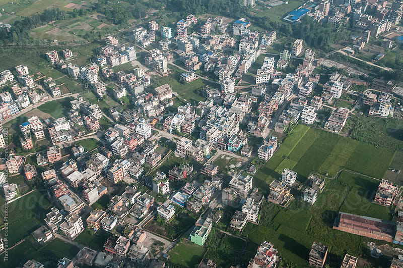 Aerial view of buildings, Kathmandu, Nepal. by Thomas Pickard Photography Ltd. for Stocksy United