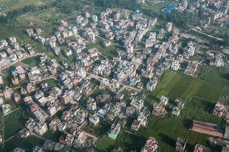 Aerial view of buildings, Kathmandu, Nepal. by Thomas Pickard for Stocksy United
