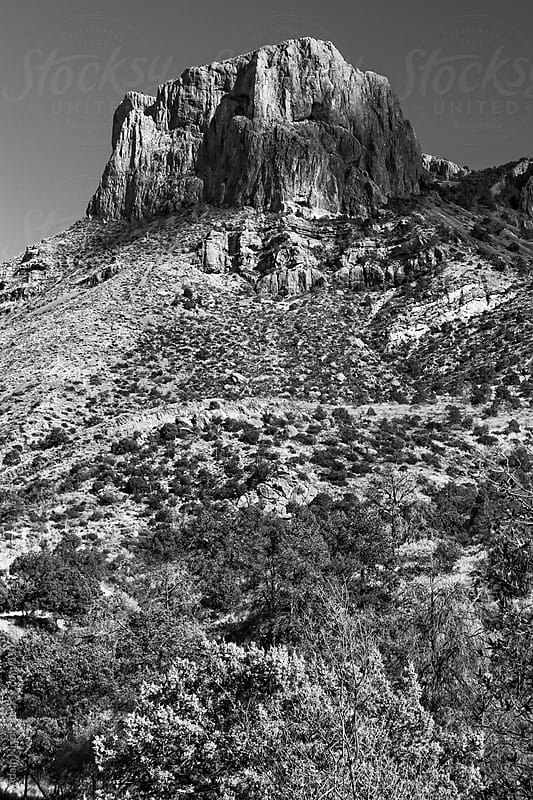 Mountain landscape in Big Bend National Park, Texas