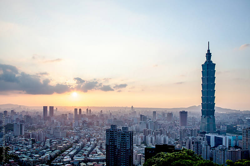 Taipei 101 Sunset by Paul Ratje for Stocksy United