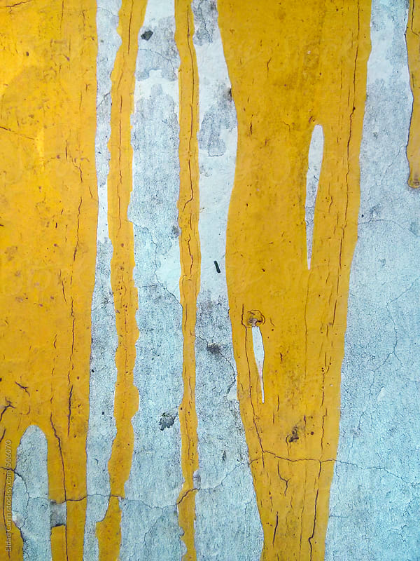 Dried Yellow Paint Spillage by Eldad Carin for Stocksy United