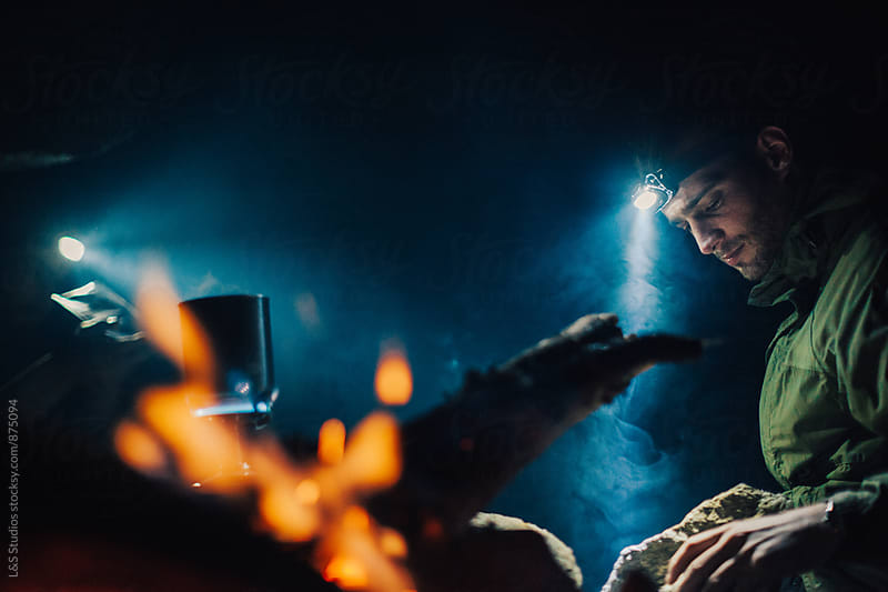 Cave Camping by L&S Studios for Stocksy United